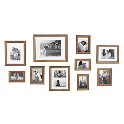 10pc Bordeaux Frame Box Set Natural Brown - Kate & Laurel All Things Decor