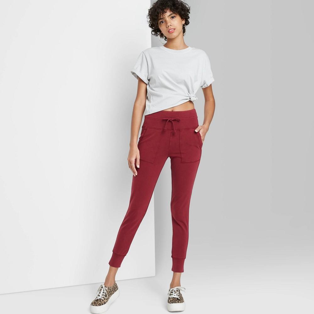 Women 39 S High Waisted Pocket Leggings Wild Fable 8482 Berry Xxl