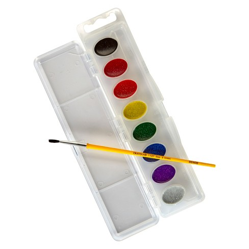 crayola glitter watercolor paints with brush 8ct target