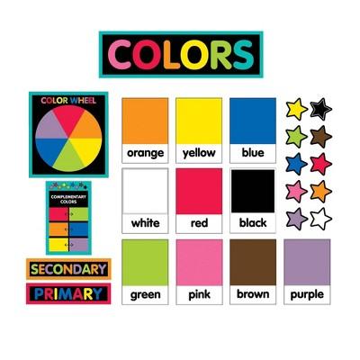 26pc Just Teach Color Cards Mini Bulletin Board Set - Schoolgirl Style
