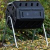 FCMP Outdoor IM4000 37-Gal Dual-Chamber Quick Curing Tumbling Composter Soil Bin - image 3 of 4