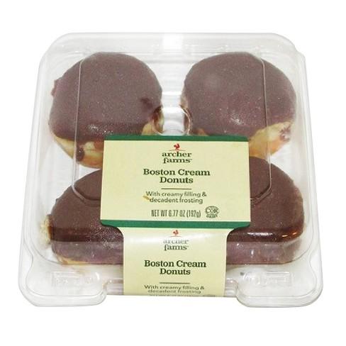 Mini Chocolate Boston Cream Donuts 677oz Archer Farms Target