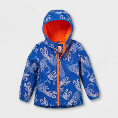 Toddler Boys' Dinosaur Print Softshell Jacket - Cat & Jack™ Blue 2T