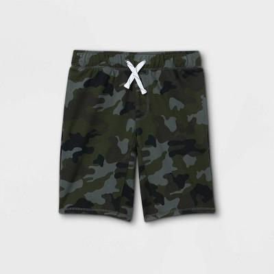 Boys' Camo Print Pull-On Knit Shorts - Cat & Jack™ Green