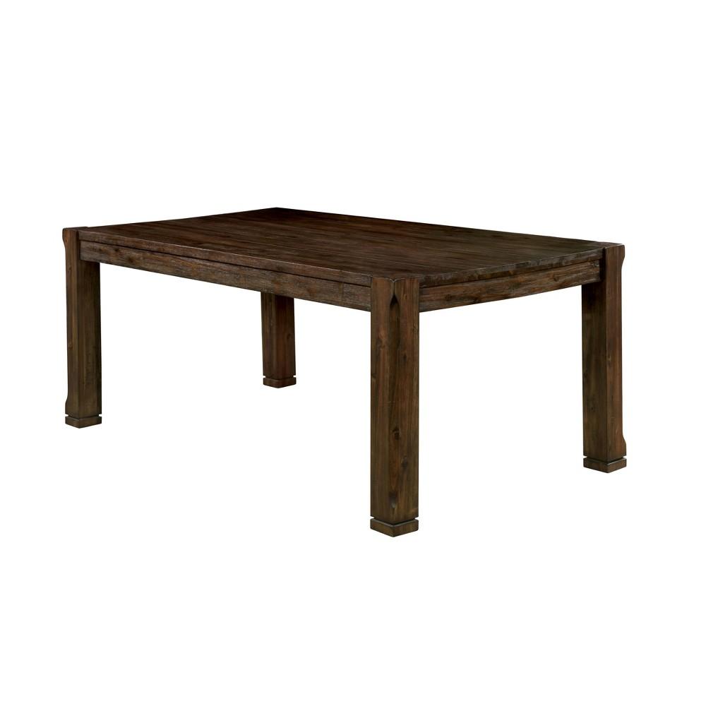 Frampson Dining Tables Walnut - Sun & Pine, Dark Brown