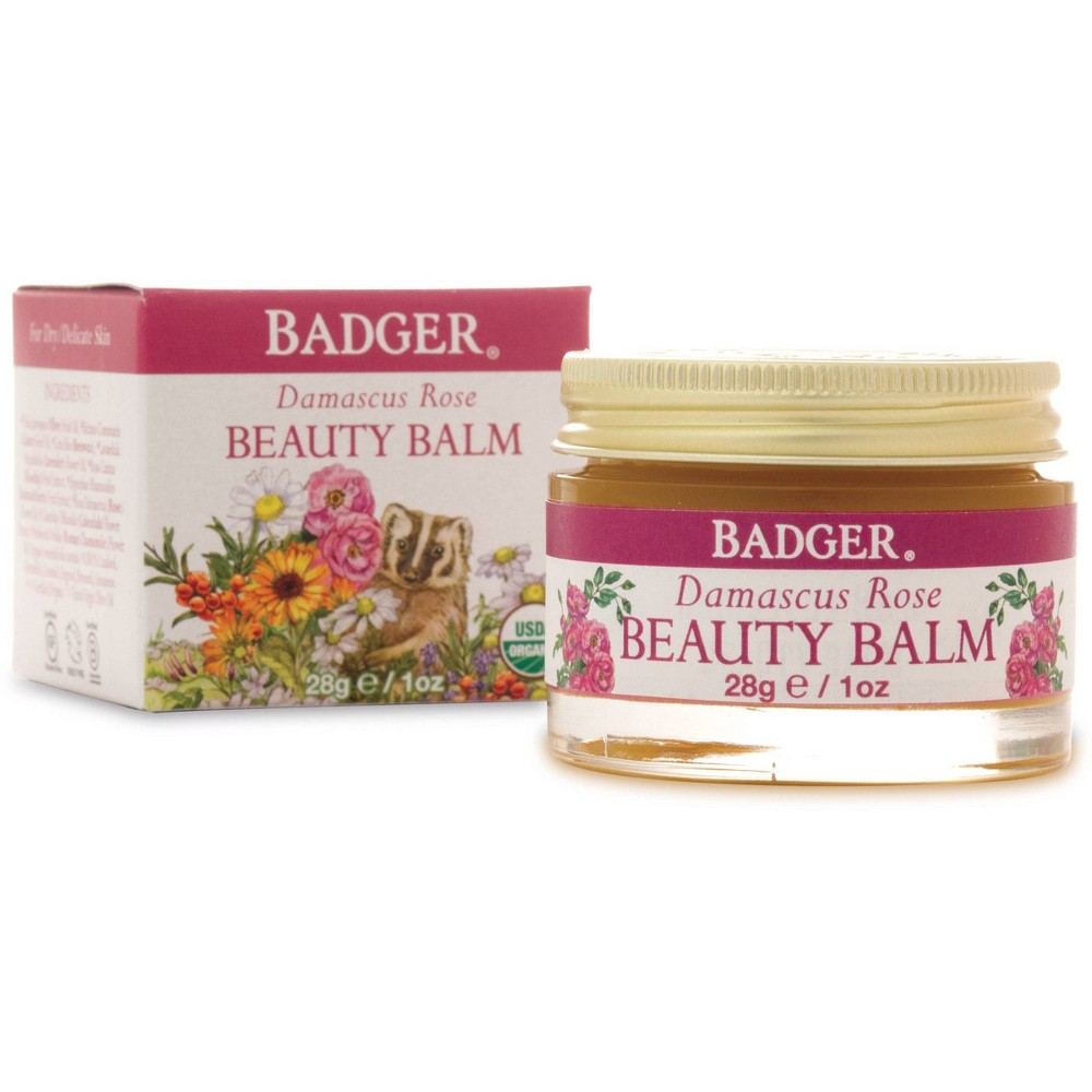 Image of Badger Damascus Rose Beauty Balm - 1oz