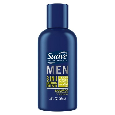 Suave 3-in-1 Citrus Rush Shampoo Conditioner & Body Wash Travel Size - 3 fl oz