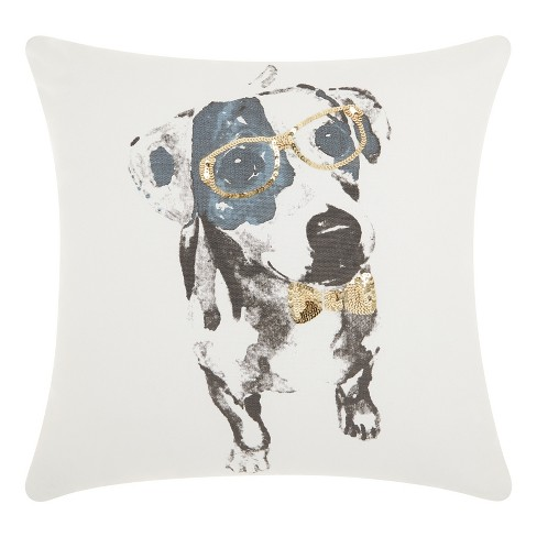 Gold Dogs Throw Pillow - Mina Victory - image 1 of 4
