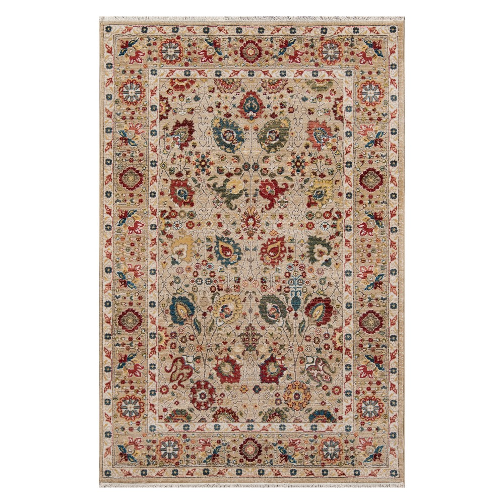 33X53 Floral Loomed Accent Rug Ivory - Momeni Top