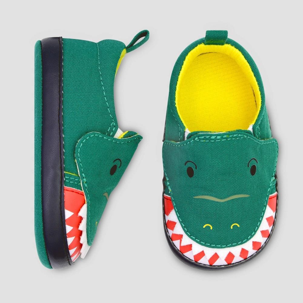 Image of Baby Boys' Crocodile Slip On Sneaker - Cat & Jack Green 0-3M, Boy's