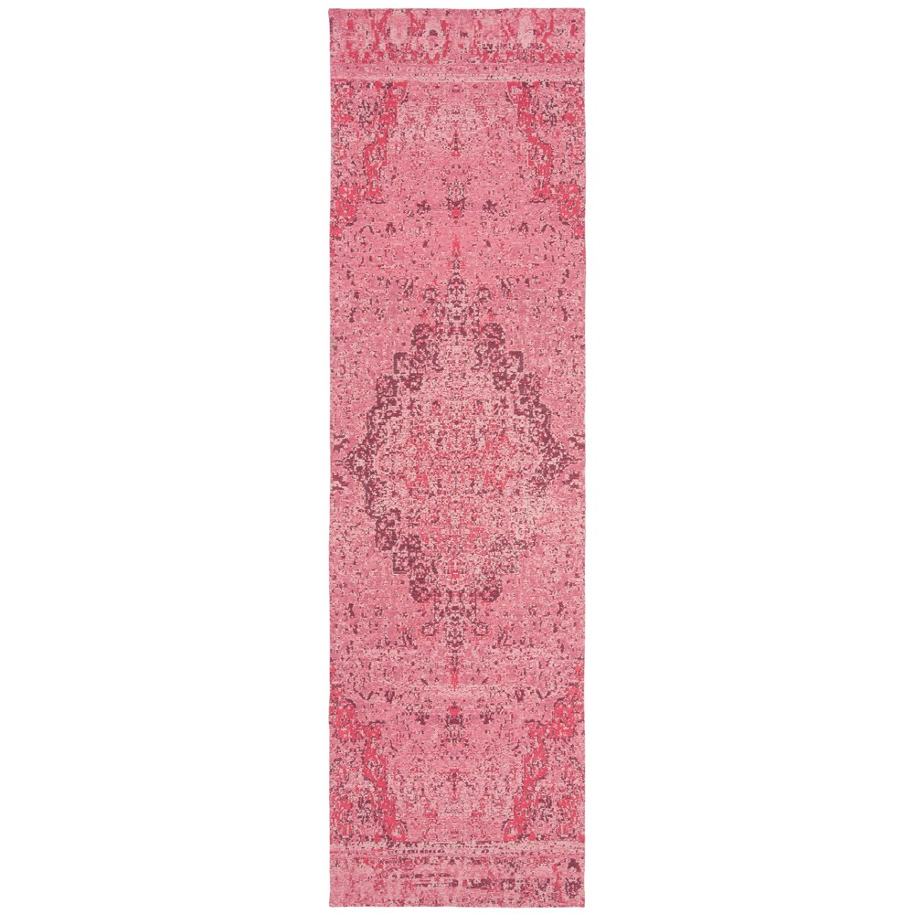 2'2X8' Loomed Medallion Runner Rug Fuchsia (Pink) - Safavieh