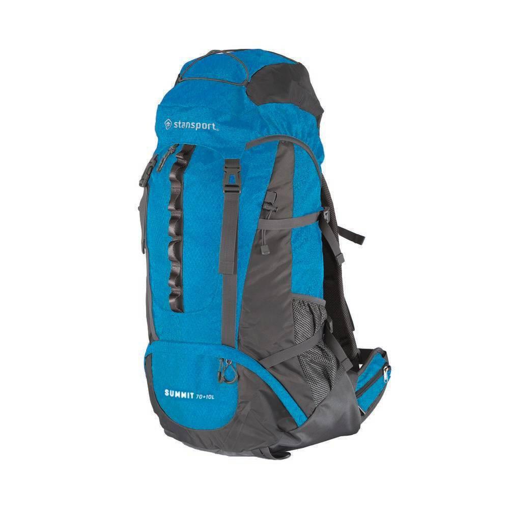 Stansport 70+10L Internal Frame Backpack - Blue
