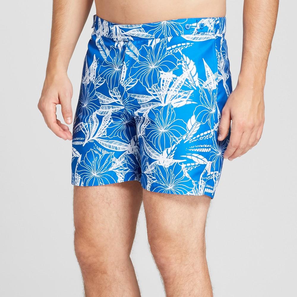 Ibiza Ocean Club Men's 6 Recreational Swim Trunk - Floral 36