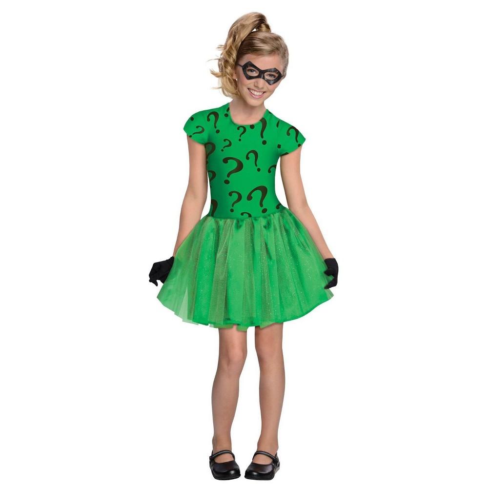 Image of Halloween DC Comics Girls' Riddler Tutu Dress Halloween Costume S - Rubie's, Girl's, Size: Small, MultiColored