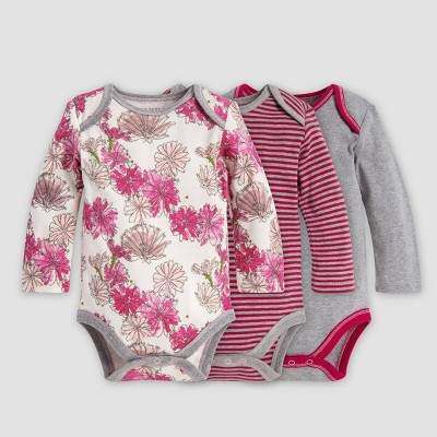 Burt's Bees Baby® Baby Girls' Organic Cotton Floral Bodysuit - Purple 3-6M
