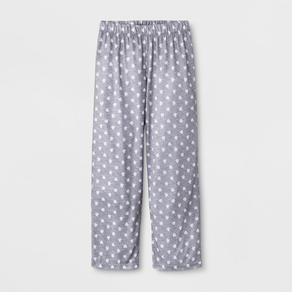 Girls' Hearts Sleep Pajama Pants - Cat & Jack Heather Gray XL