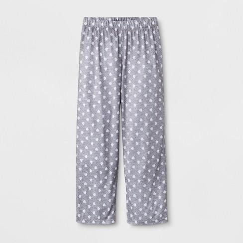 Girls' Hearts Sleep Pajama Pants - Cat & Jack™ Heather Gray - image 1 of 1