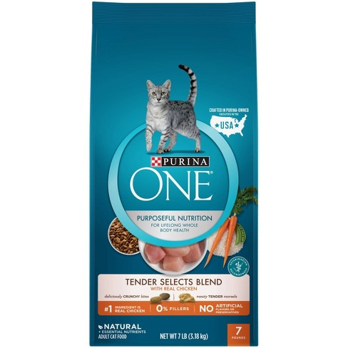 Purina ONE Tender Selects Blend With Real Chicken Adult Premium Dry Cat Food - 7lbs - image 1 of 3