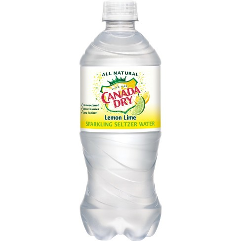 Canada Dry Seltzer Lemon Lime - 20 fl oz Bottle - image 1 of 1