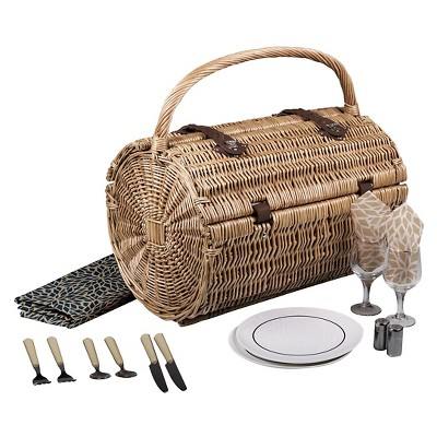 Picnic Time Barrel Picnic Basket - Dahlia Collection