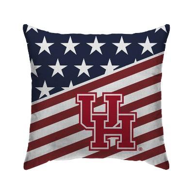 NCAA Houston Cougars Americana Decorative Throw Pillow