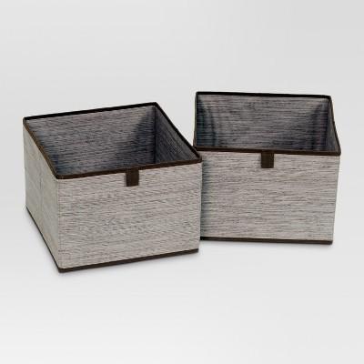 2pk Drawers for Closet Organizer - Gray Birch - Threshold™