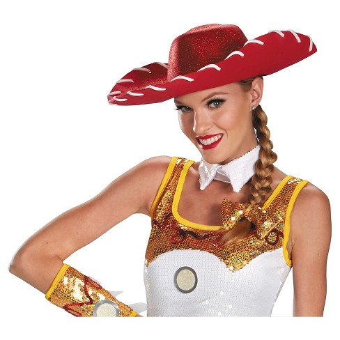 Halloween Disney Women's Jessie Glam Hat and Bow Costume Set - image 1 of 1