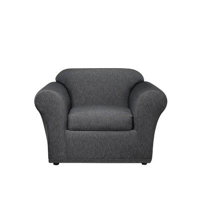 Stretch Denim Chair Slipcover Black - Sure Fit