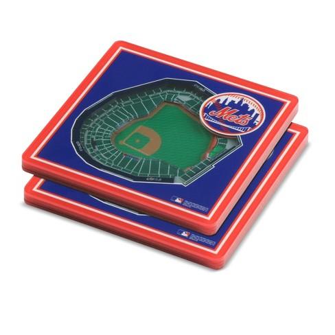 6c0715f3 MLB New York Mets StadiumView Coaster 2pk : Target