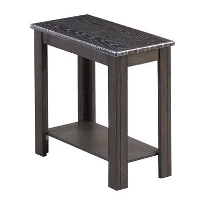 Rectangular Wooden Side Table with 1 Open Bottom Shelf - Benzara