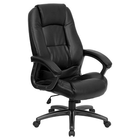 High Back Executive Swivel Office Chair Black Leather - Flash Furniture - image 1 of 4