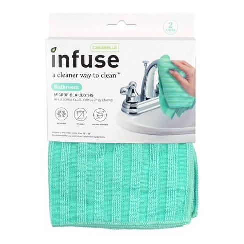 Casabella Infuse Bathroom Microfiber Cloths - 2pk - image 1 of 4