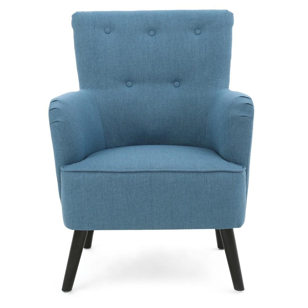 Kolin Upholstered Chair - Blue - Christopher Knight Home