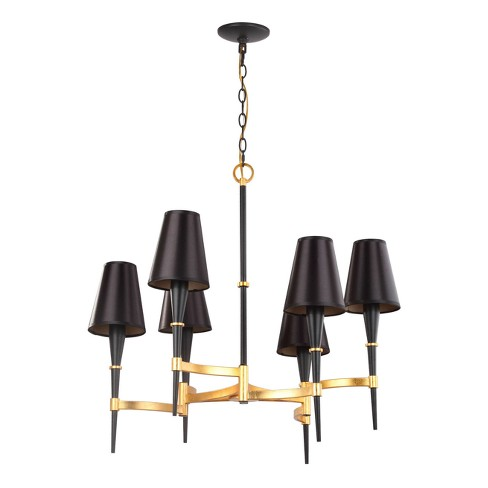 "Alroy 3 Light 30"" Chandelier - Black - Safavieh - image 1 of 3"