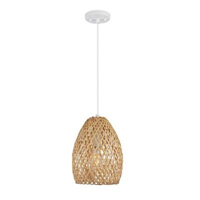 Rio Twine Shade Pendant Light Natural - Globe Electric