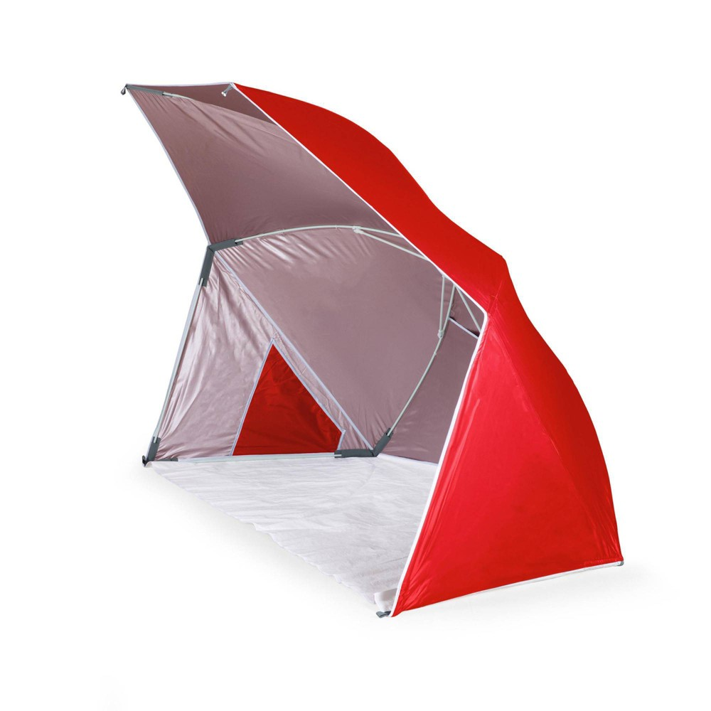 Picnic Time Brolly Beach Umbrella Tent Red