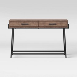 Corinna Angle Leg Sofa Console Wood - Threshold™