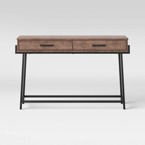 Corinna Angle Leg Sofa Console Wood - Threshold™ - image 1 of 4