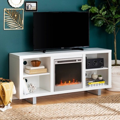 "Simple Modern Fireplace Console TV Stand for TVs up to 65"" - Saracina Home"
