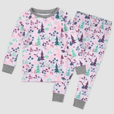 Honest Baby Girls' 2pc Enchanted Forest Organic Cotton Pajama Set - 24M