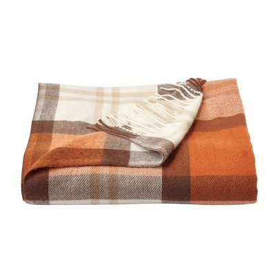 """60""""x70"""" Breathable and Stylish Soft Plaid Throw Blanket - Yorkshire Home"""
