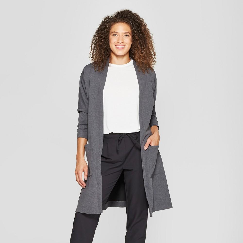 Mpg Sport Women's Knit Cardigan - Dark Grey Heather M