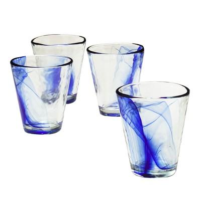 Murano 14oz Tumblers Set of 4 Cobalt Blue