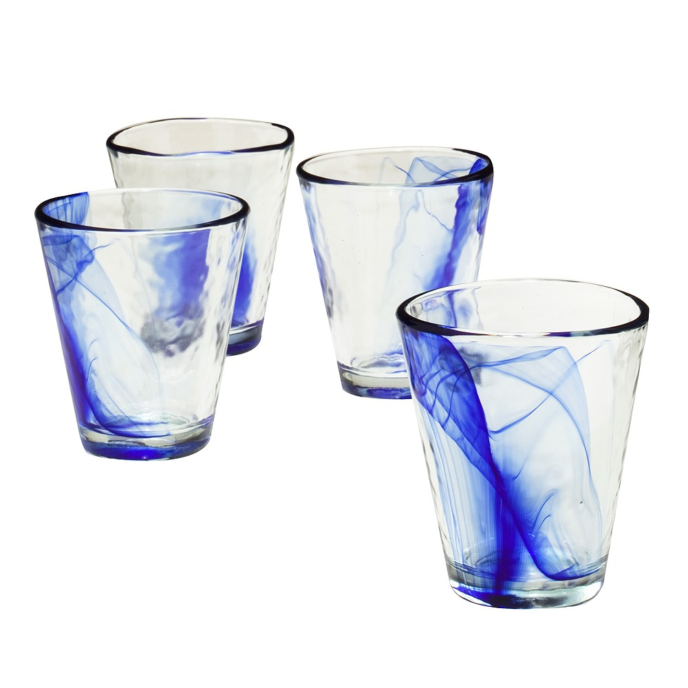 Image result for Bormioli Rocco Murano 14.5 oz. Cobalt Blue Beverage Glass, Set of 12