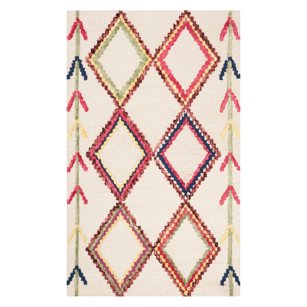 3X5 Geometric Tufted Accent Rug Ivory - Safavieh Reviews