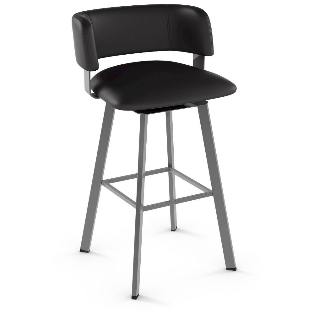 Super Stinson 30 Swivel Metal Barstool Gray Amisco Grey Creativecarmelina Interior Chair Design Creativecarmelinacom