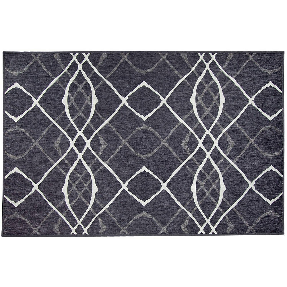 Image of 3'x5' Amara Rug Black - Ruggable, Size: 3'X5'