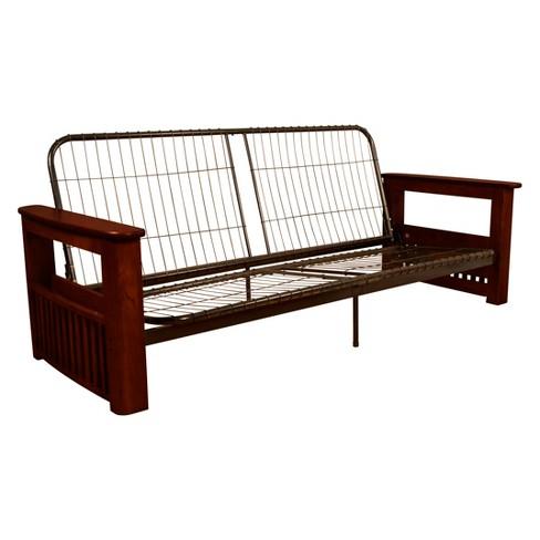 Flip Top Arm Futon Frame - Wood Finish - Sit N Sleep - image 1 of 2