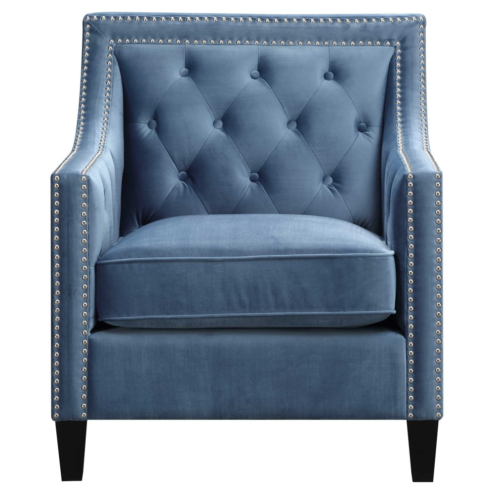 Teagan Accent Chair - Marine Blue - Picket House Furnishings, Mineral Blue Heather