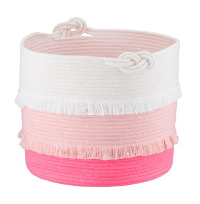Large Coil Rope Toy Storage Basket Pink - Pillowfort™